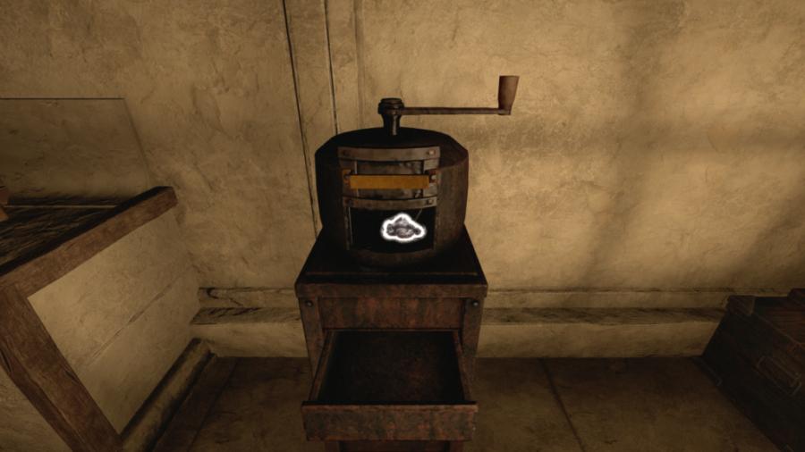 Une capture d'écran du moulin à charbon dans Amnesia: Rebirth