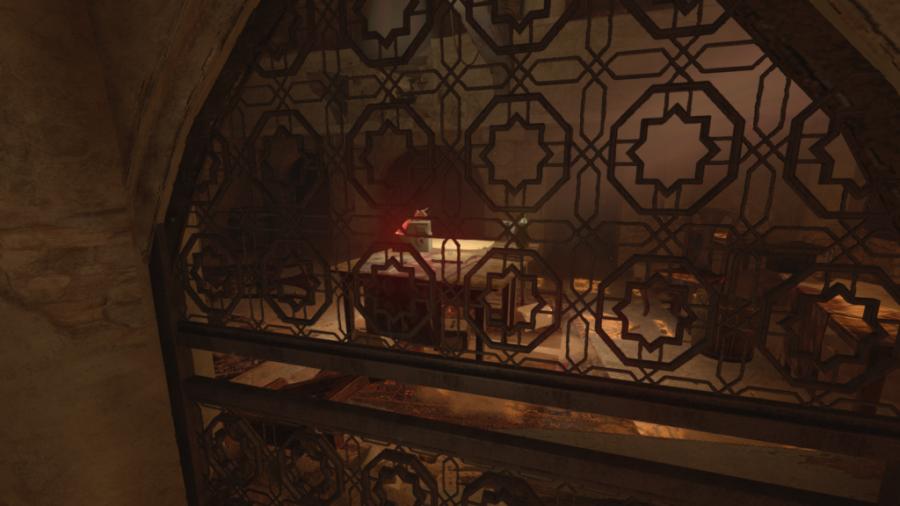 Une capture d'écran de la radio que vous recherchez derrière une porte dans Amnesia: Rebirth