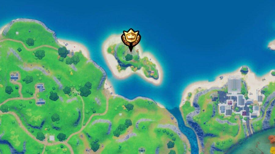 Emplacement de la cabane de pêche sur la carte Fortnite