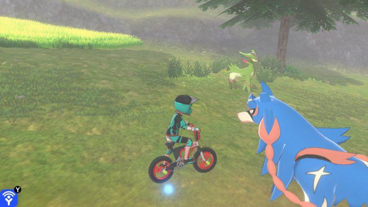 Une capture d'écran de la toundra de la couronne montrant l'emplacement du Pokémon légendaire Virizon