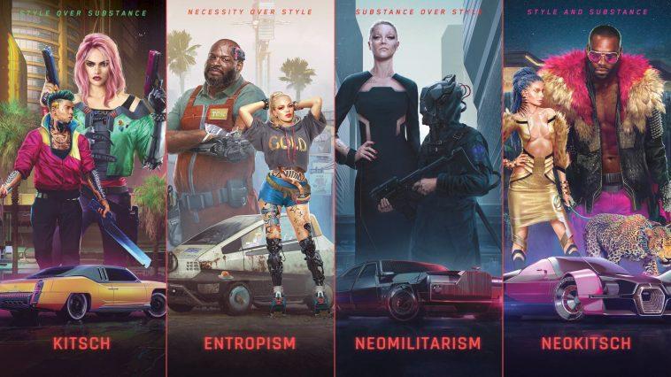 Cyberpunk 2077 Dévoile Ses 4 Styles Vestimentaires: Kitsch, Entropisme, Néomilitarisme