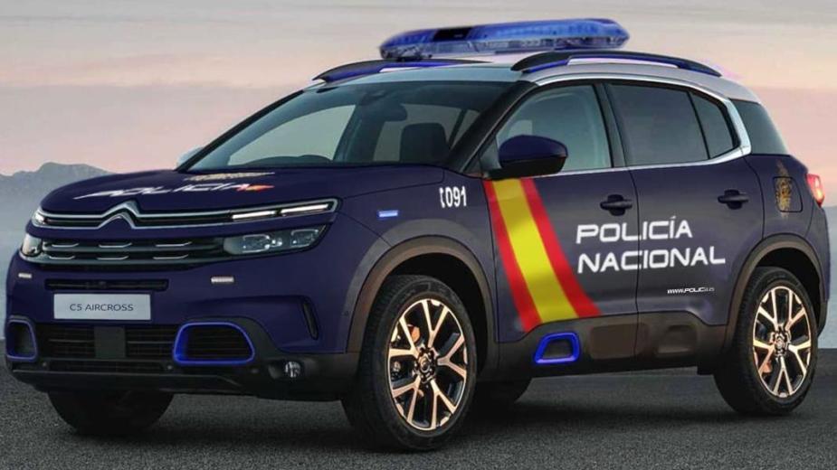 «dios Mio»! Police Nationale Espagnole équipée De Voitures Françaises