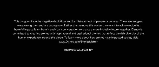Les téléspectateurs de Disney + verront désormais cet avertissement de contenu avant certains films