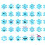 Emoji Sbsnowflake Set