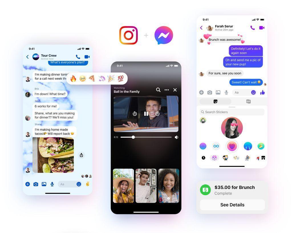 Facebook Messenger obtient un nouveau logo et des fonctionnalités telles que des réactions personnalisées, de nouveaux thèmes de chat et plus
