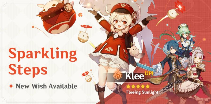 Une photo de la nouvelle bannière de souhaits d'événement Klee intitulée Sparkling Steps