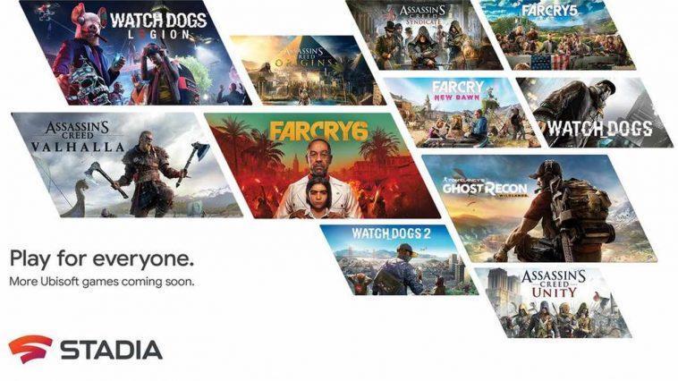 Google Stadia Pour Obtenir Des Titres Ubisoft Comme Assassin's Creed