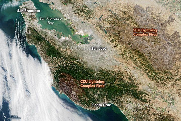 Graves Brûlures Causées Par Les Incendies De Forêt En Californie