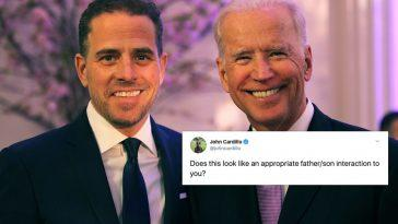 Joe Biden Embrasse Son Fils Hunter `` Effrayant '', Dit
