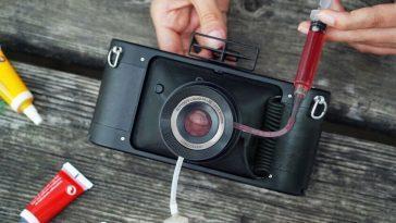 La nouvelle caméra Lomography vous permet d'injecter des liquides dans l'objectif pour créer des filtres différents (et uniques)