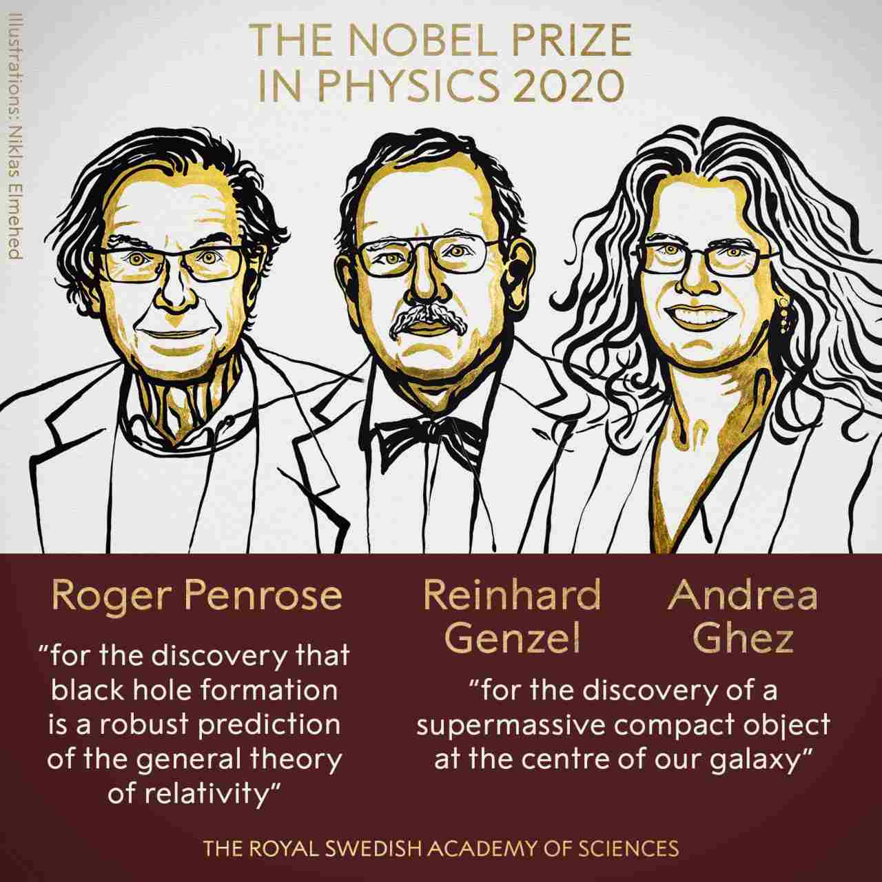Le prix Nobel 2020 de physique décerné à des scientifiques britanniques, allemands et américains pour leurs découvertes en cosmologie et trous noirs