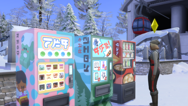 Distributeurs automatiques Sims 4 Snow Paradise