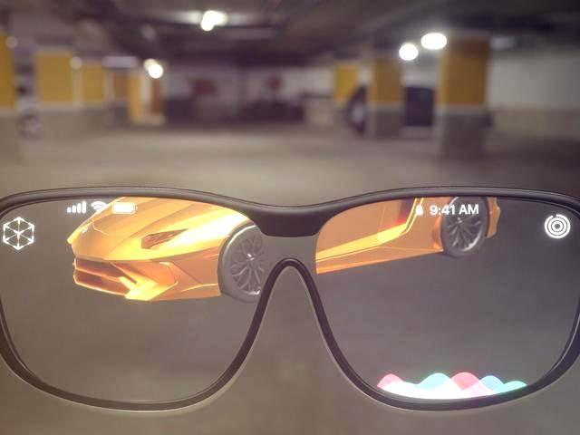 Les lunettes intelligentes Apple Glasses (image conceptuelle) reposent apparemment sur de nouveaux types d'écrans OLED.