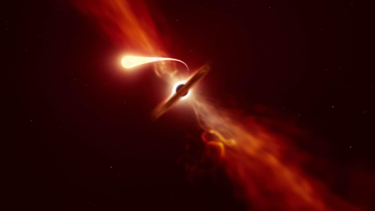 Les Télescopes De L'eso Capturent Le Moment étonnant D'un Trou