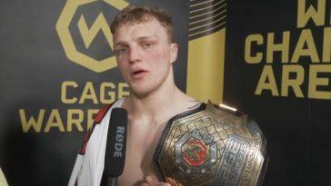 Mason Jones, Double Champion Des Cage Warriors, Signe Un Accord