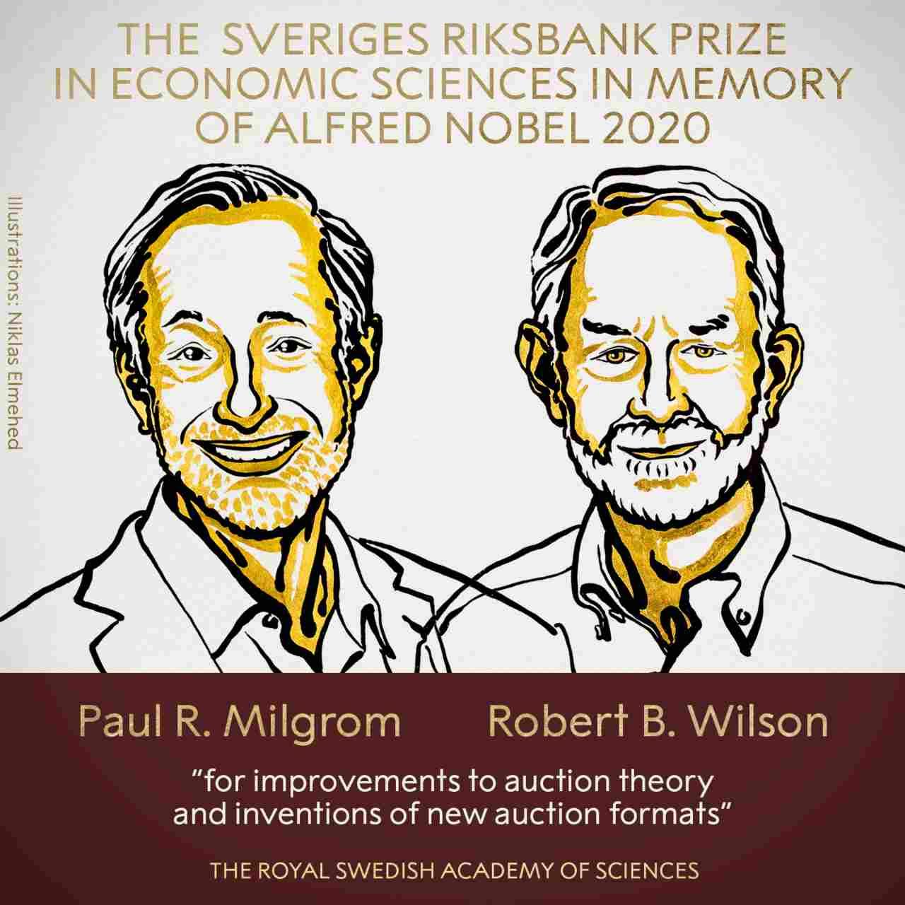 Prix Nobel d'économie décerné à Paul Milgrom et Robert Wilson pour leurs contributions et l'innovation dans la théorie des enchères