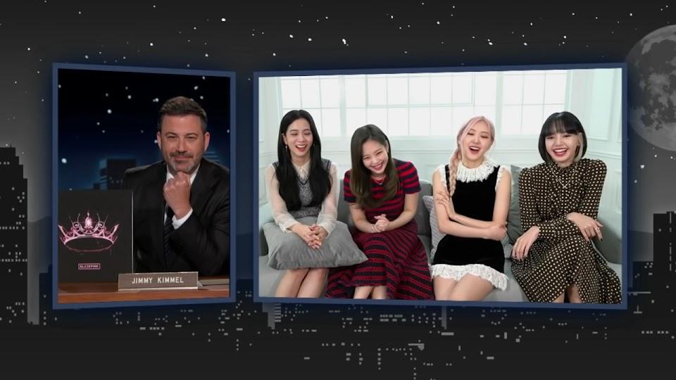 Jimmy Kimmel interviewe BLACKPINK!  6-8 capture d'écran
