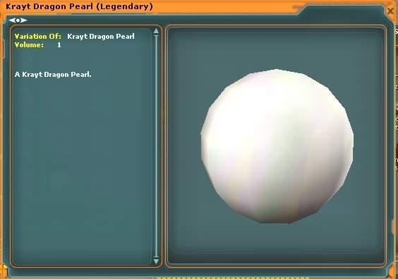 Une perle de dragon du dragon de Krayt