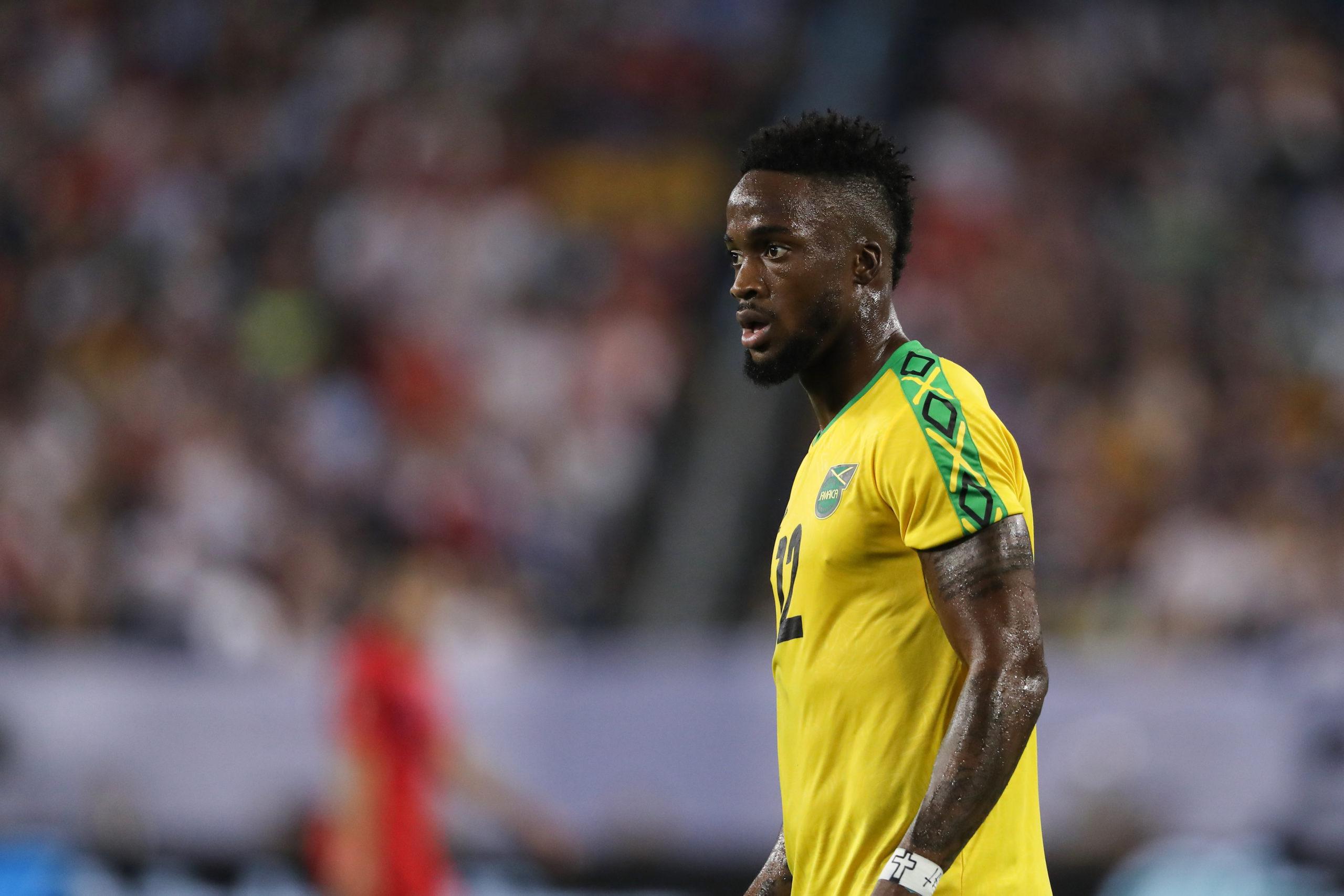 Junior Flemmings de la Jamaïque lors de la demi-finale de la Gold Cup de la CONCACAF 2019 entre la Jamaïque et les États-Unis