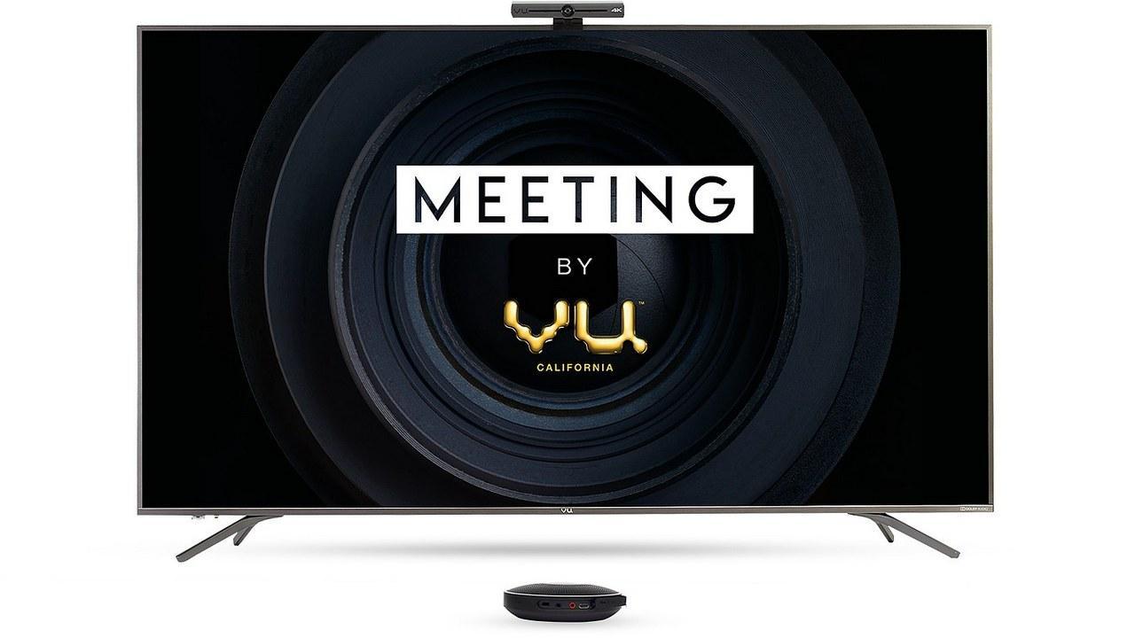 Vu Group lance une solution de visioconférence appelée 'Meeting by Vu' avec de grands écrans, 8 Go de RAM et plus