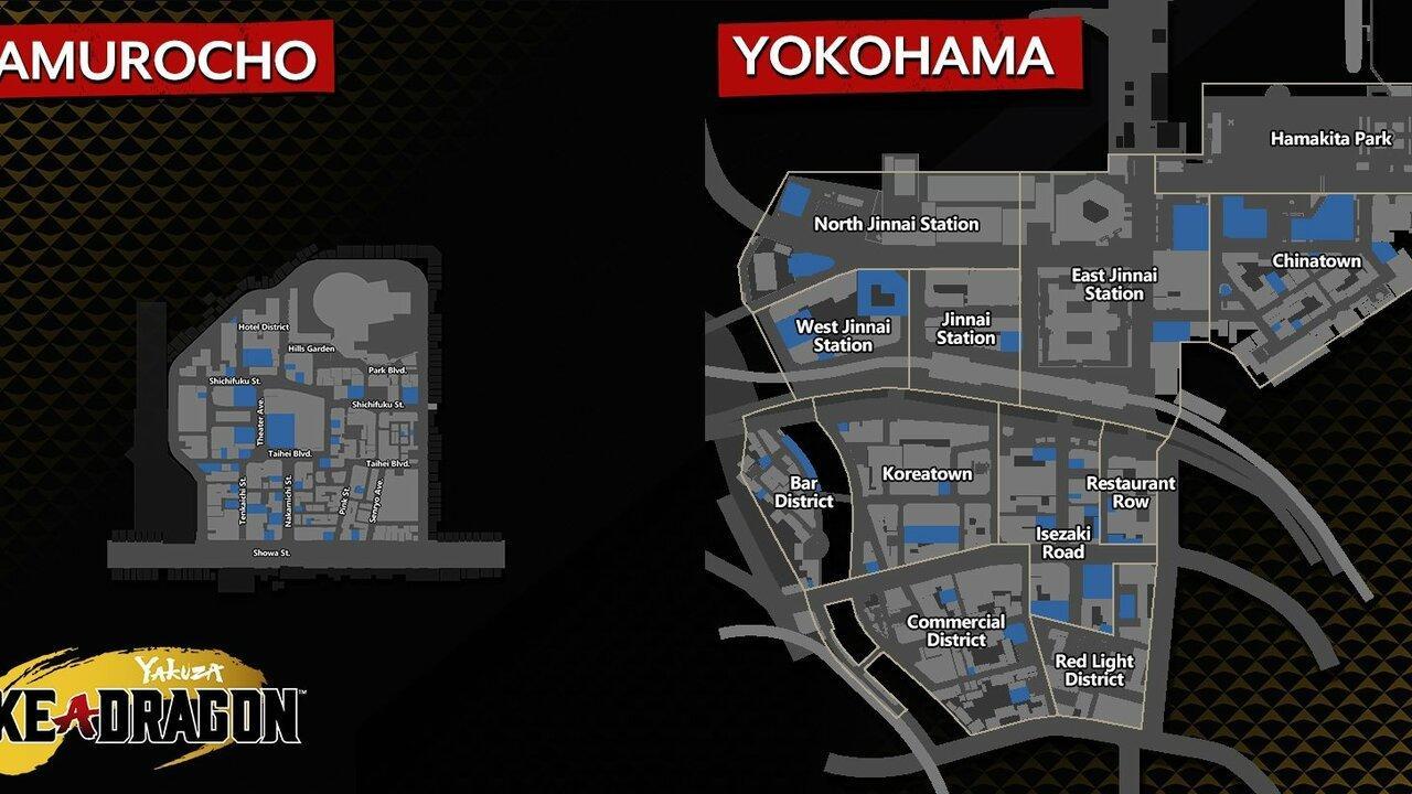 Yakuza: La Carte De Yokohama D'un Dragon Est énorme