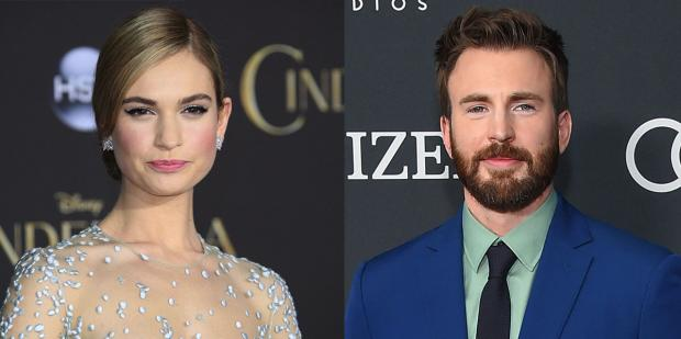Lily James Chris Evans.jpg