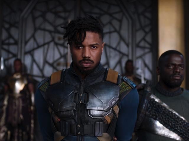 """Voilà à quoi ressemblait le sombre Michael B. Jordan dans """"Black Panther""""."""