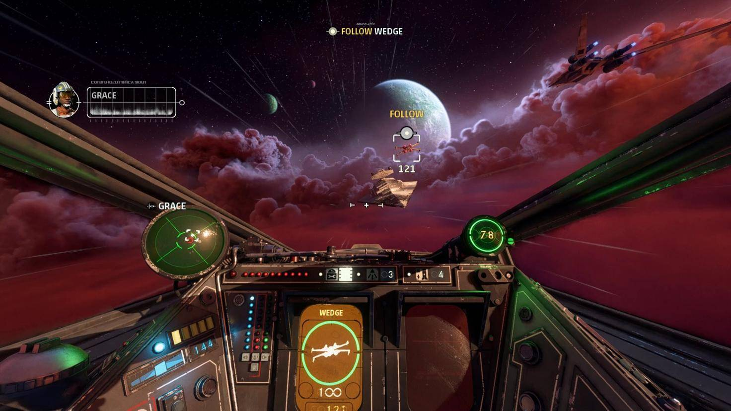 gameplay des escadrons de star wars x wing