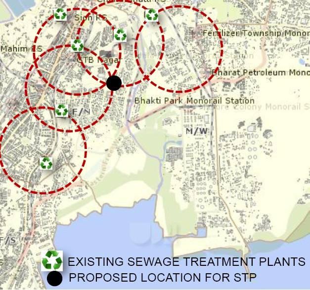 Emplacement proposé pour l'usine de traitement des eaux usées.  Image: Auteur fourni