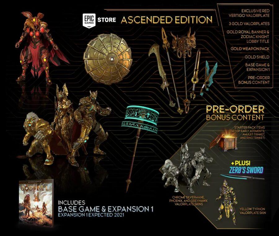 Une image de tout ce qu'il y a dans l'édition PC Ascended de Godfall