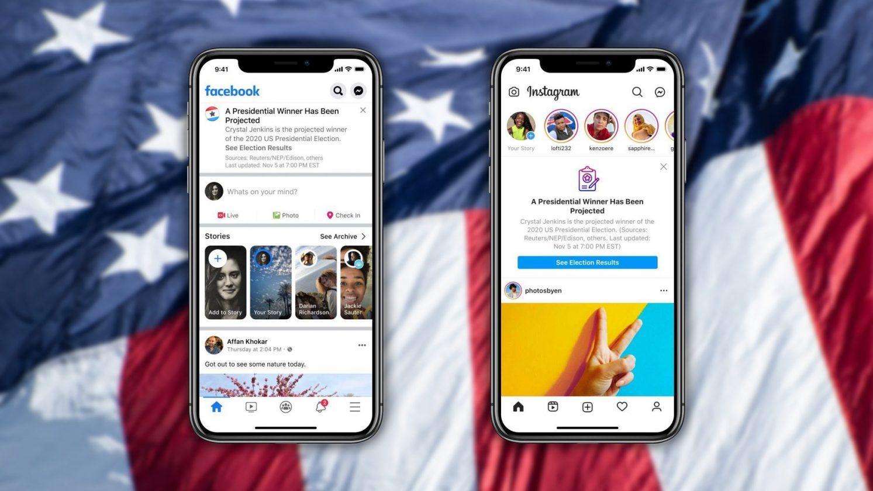Facebook Et Instagram Annonceront Le Vainqueur Des élections Américaines Avec