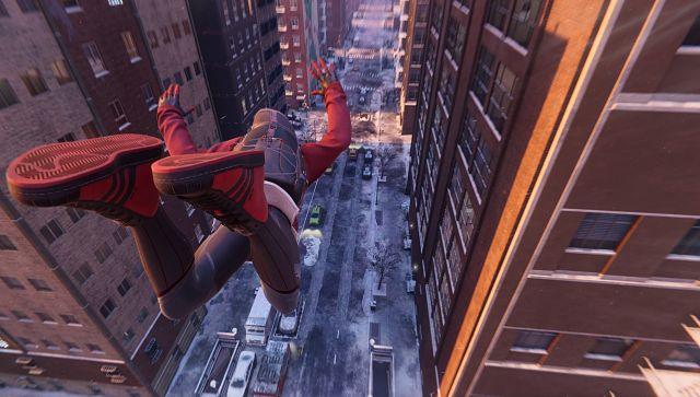 Capturé via le mode photo dans Spider-Man de Marvel: Miles Morales
