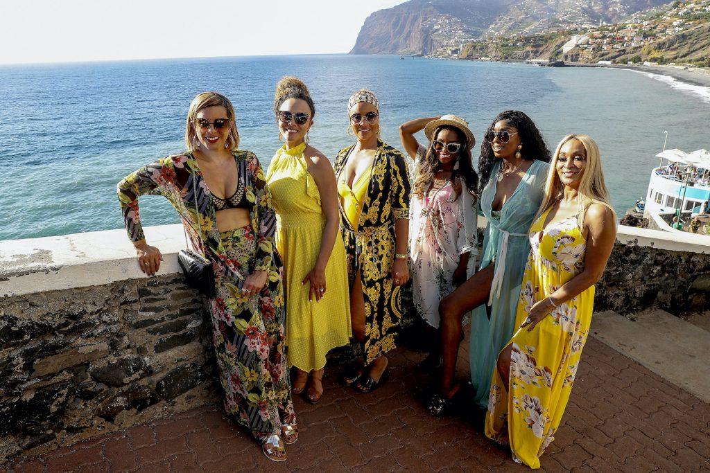 Les acteurs du 'RHOP' lors de leur voyage au Portugal