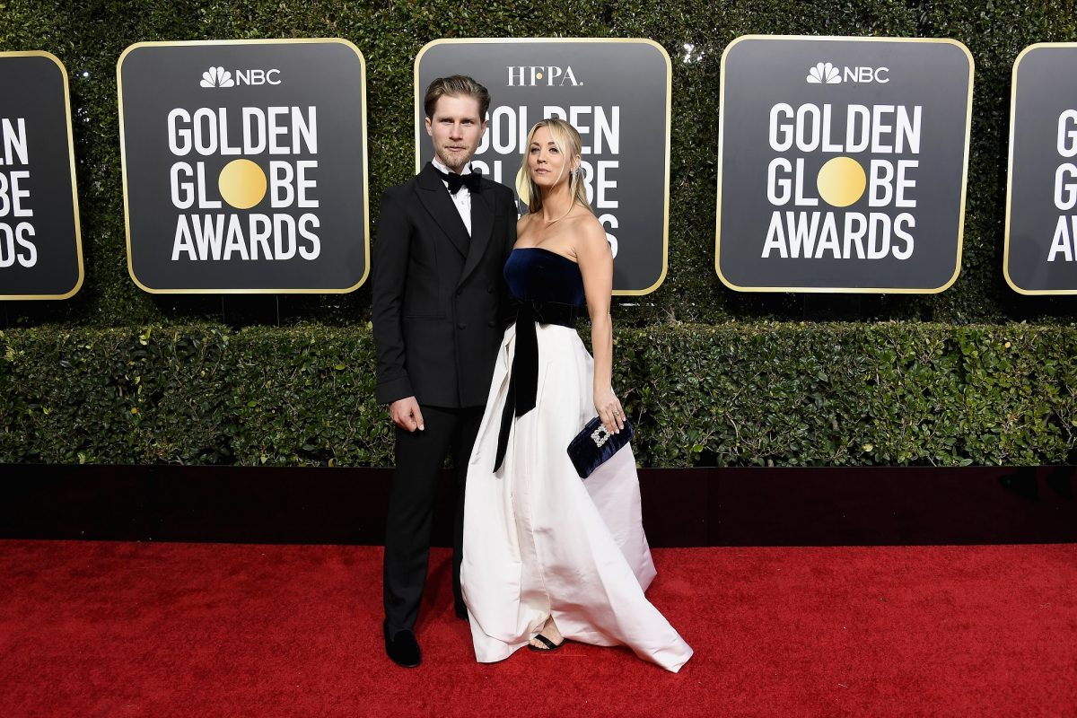 Kaley Cuoco et Karl Cook aux Golden Globes
