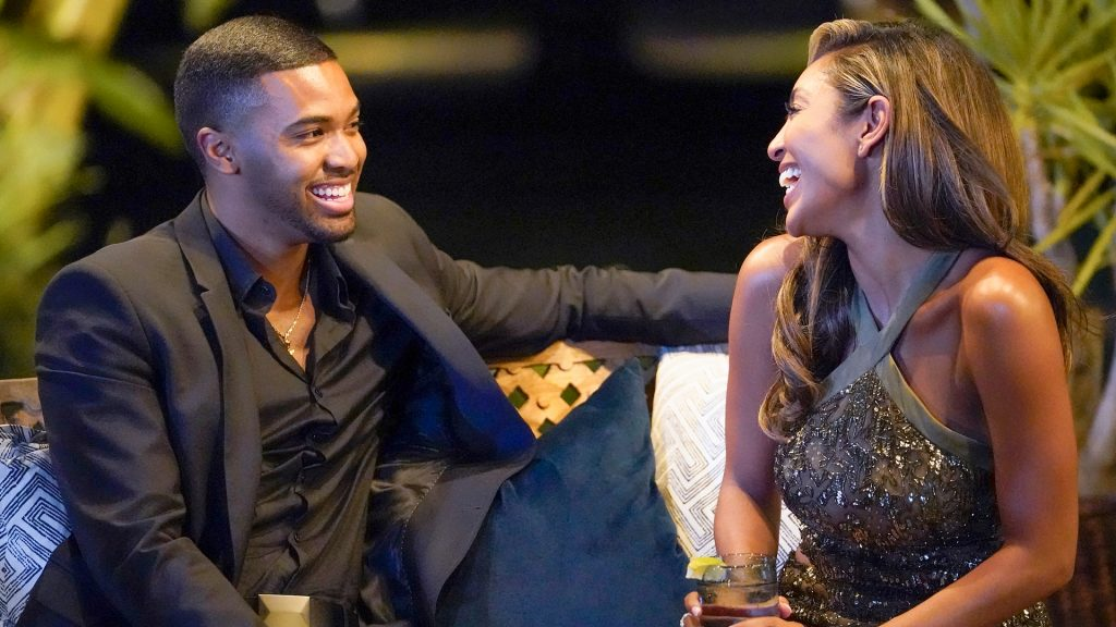 Ivan Hall et Tayshia Adams sur 'The Bachelorette' 2020