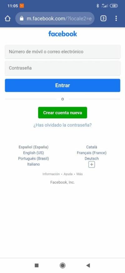 Connectez-vous à Facebook