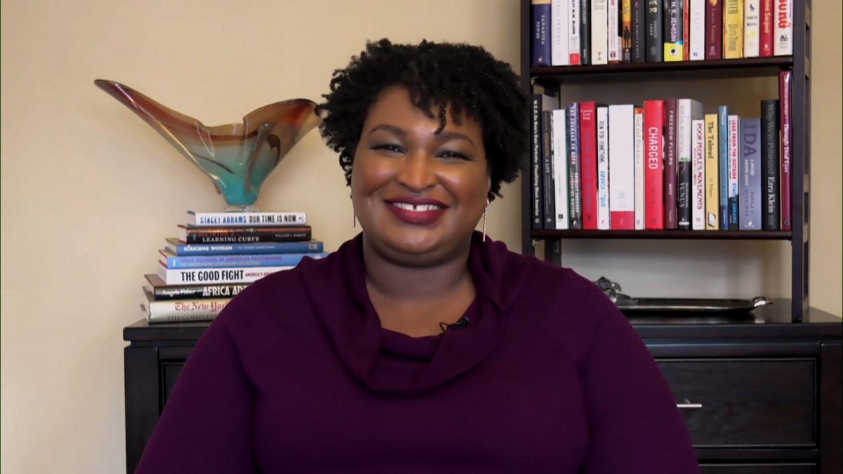 La politicienne Stacey Abrams lors d'une interview le 30 octobre 2020