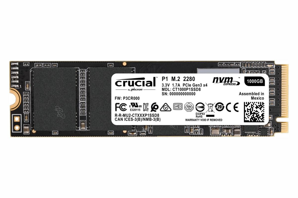 image plate cruciale p1 ssd 1000 Go