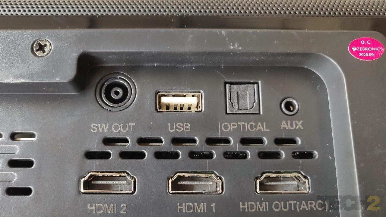 Il existe de nombreuses options de connectivité sur cette barre de son certifiée Dolby Atmos, la plus frappante étant trois ports HDMI.  Image: Tech2 / Ameya Dalvi