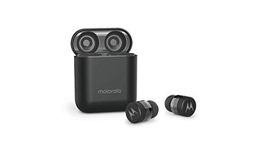 Motorola VerveBuds - Véritable casque Bluetooth sans fil - Étui de chargement portable et microphone intégré - 15 heures de jeu - IPX6 étanche - Contrôle tactile - Compatible avec Alexa, Siri, Google