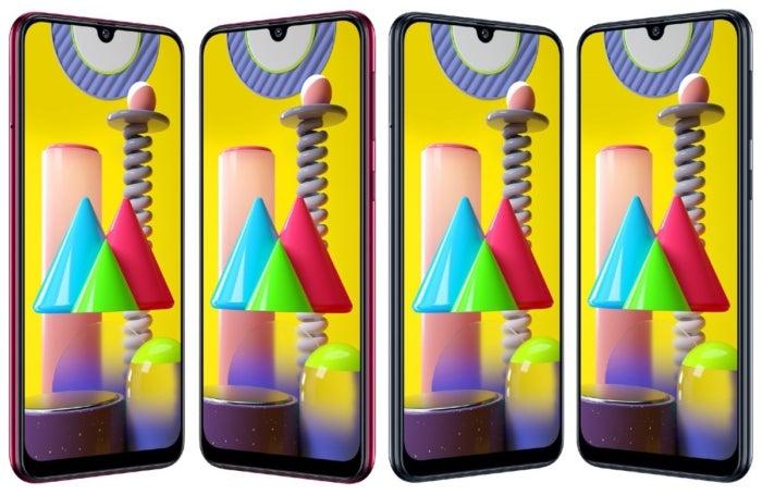 Galaxy A31 en différentes couleurs