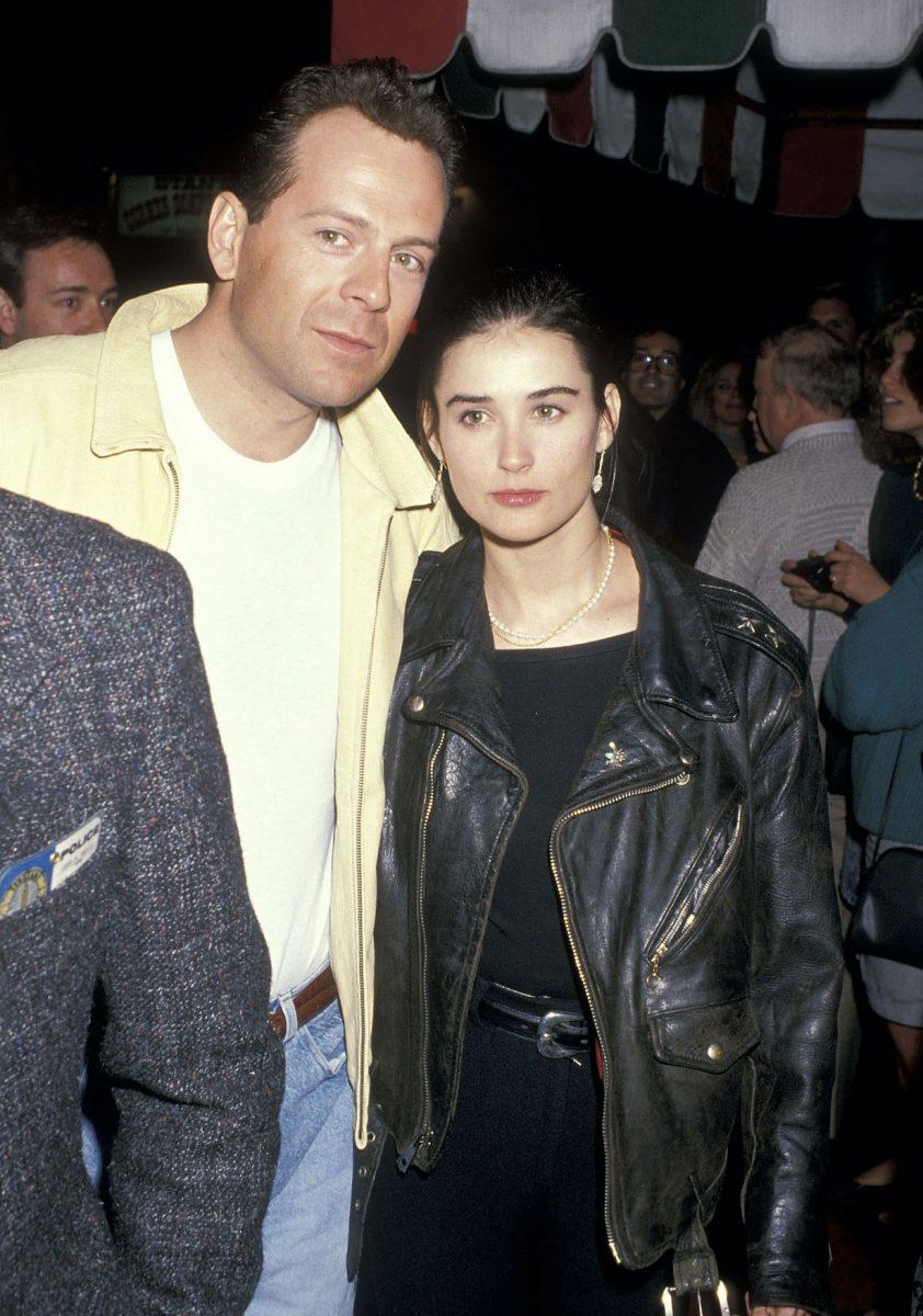 """Bruce Willis et Demi Moore assistent à la première de """"Chances Are"""" Westwood le 8 mars 1989"""