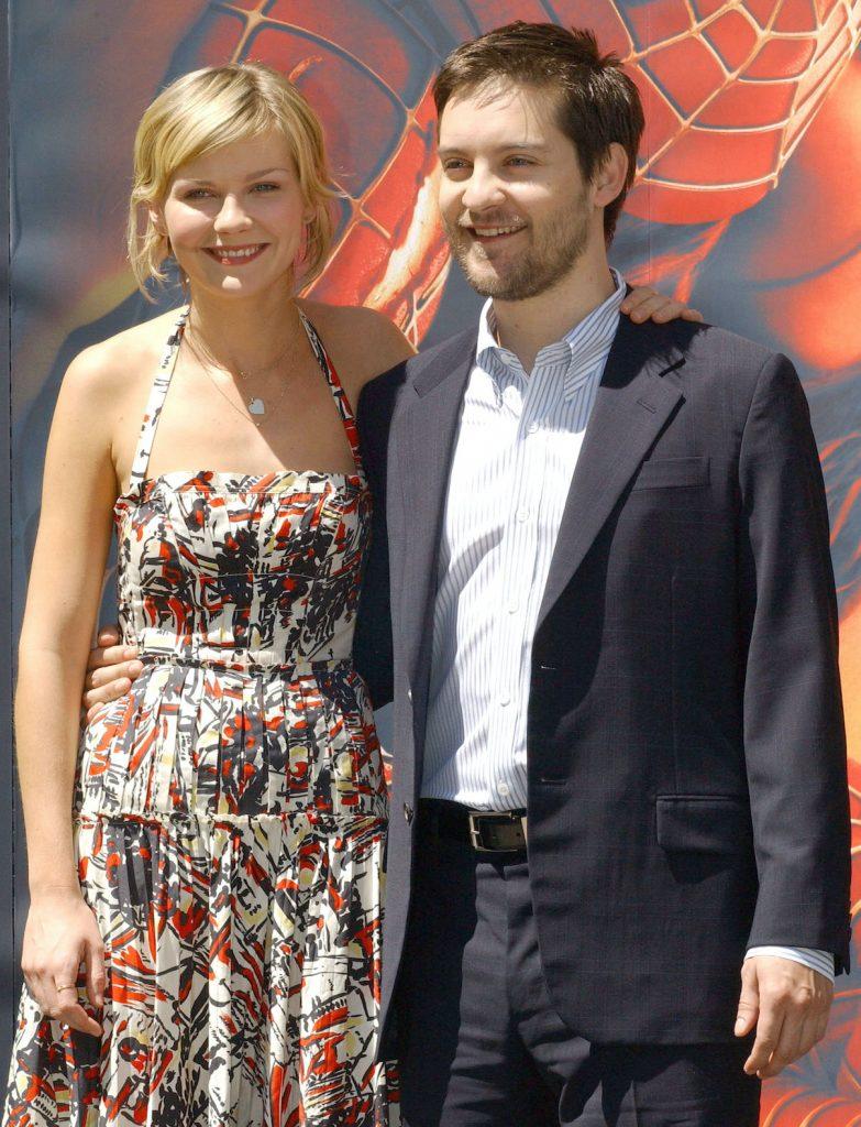 Kirsten Dunst et Tobey Maguire lors d'un photocall pour 'Spider-Man 2'