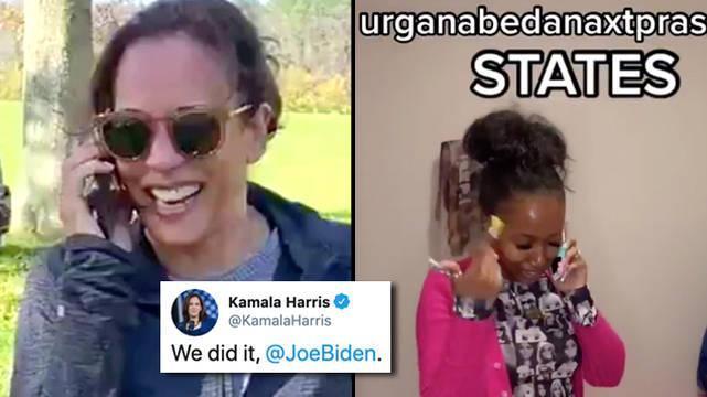 "Kamala Harris Disant ""nous L'avons Fait Joe"" A été Transformé"