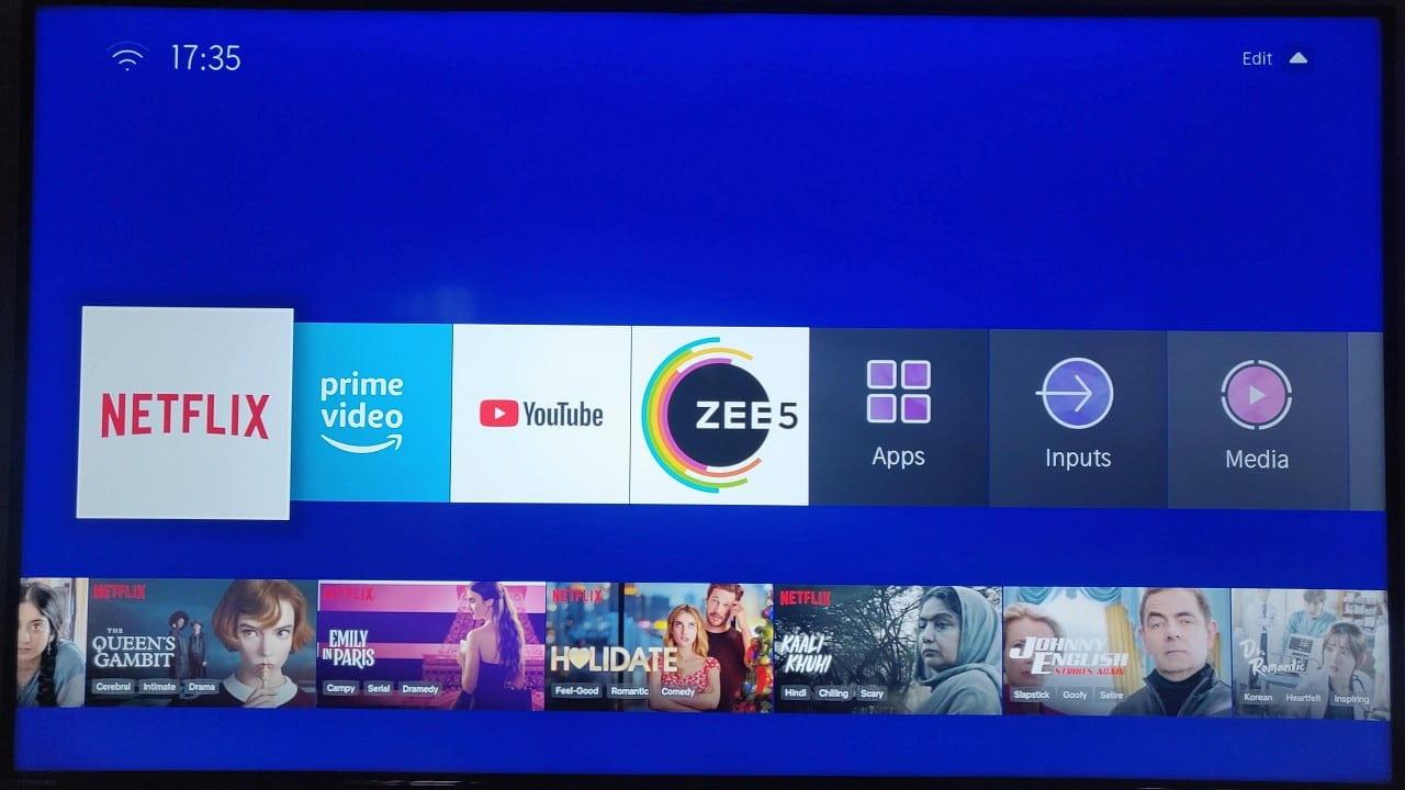 Interface utilisateur pour téléviseur intelligent Toshiba 50U5050 4K