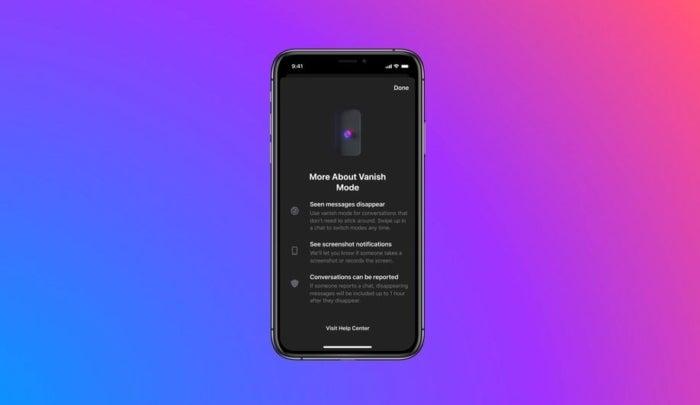 notification que Messenger et Instagram affichent pour la première fois aux messages de destruction de la fonction utilisateur