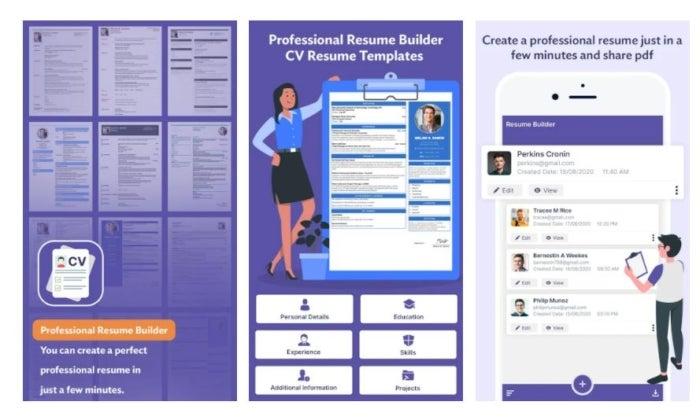 application de création de résumé professionnelle
