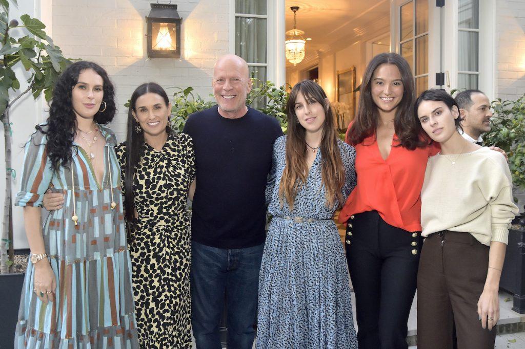 Rumer Willis, Demi Moore, Bruce Willis, le scout Willis, Emma Heming Willis et Tallulah Willis |  Stefanie Keenan / Getty Images pour goop