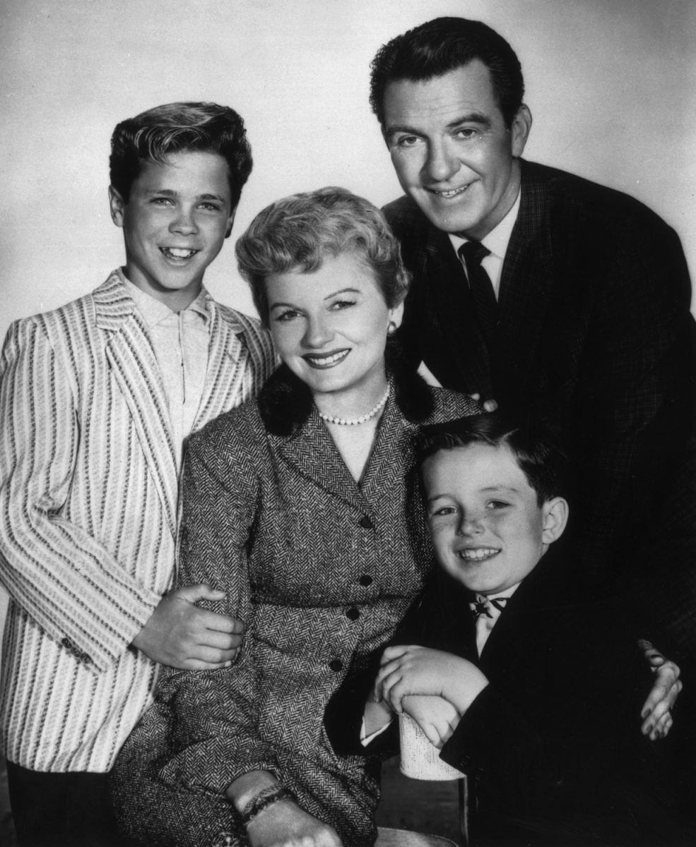Tony Dow, Hugh Beaumont, Jerry Mathers et Barbara Billingsley