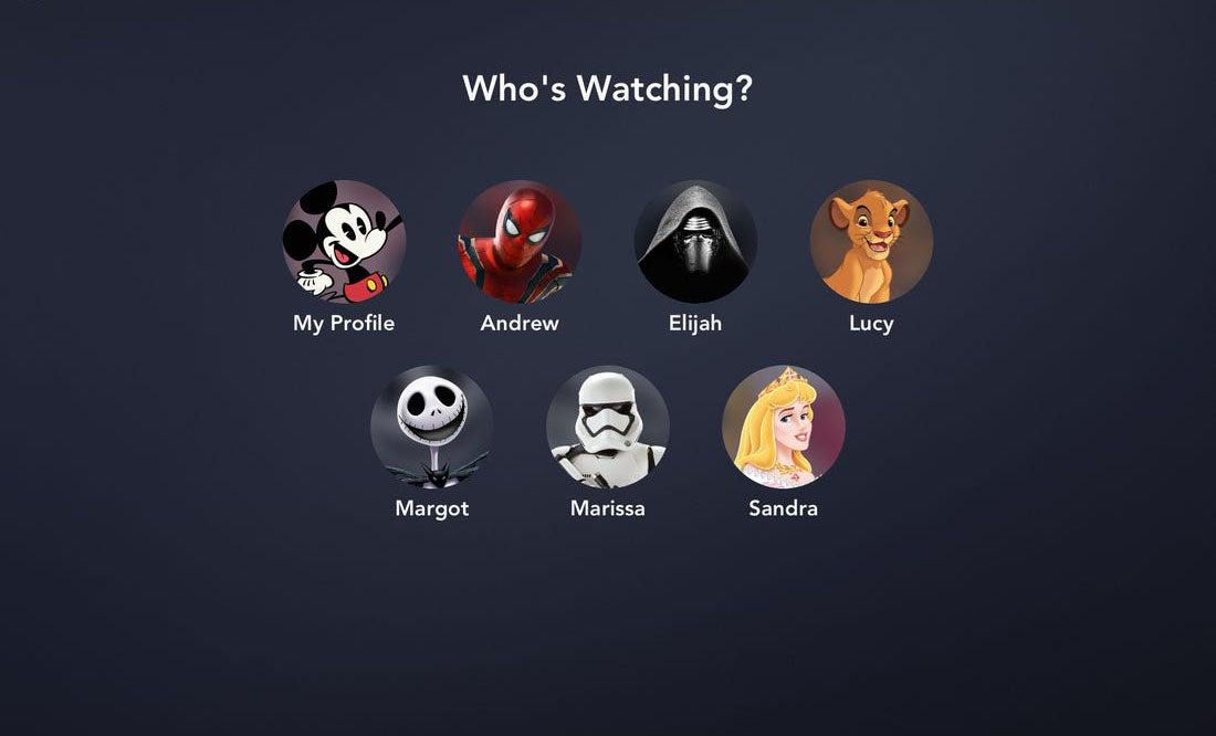 profils Disney plus